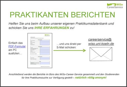 Wiso-Career-Service - Universität Zu Köln: Praktikumsberichte